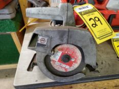 """7-1/4"""" CIRCULAR SAW, 4900 RPM & HOLE SAWS IN OLD WOOD CASE"""