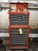 CRAFTSMAN 12-DRAWER ROLLING TOOL CHEST & 10-DRAWER TOP TOOL CHEST WITH CONTENTS