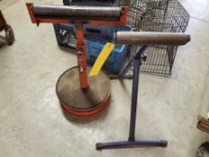 (3) PIPE STANDS & (4) BAR CLAMPS WITH SPARE BAR LOCKS