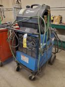 MILLER SYNCROWAVE 250 CC-AC/DC WELDER WITH MILLER COOLMATE 4 CHILLER ON BOTTLE CART, FOOTSWITCH, GRO