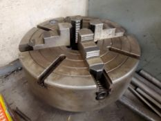 """12"""" 4-JAW CHUCK AND (2) CHUCK COLLARS"""
