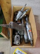 LOT OF PNEUMATIC TOOLS - STRAIGHT & RIGHT-ANGLE GRINDERS, IMPACT & SCREW GUN