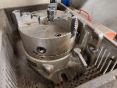 """PHASE 2 8-1/4"""" 3-JAW CHUCK TABLE ATTACHMENT, ON ANGLE BLOCK"""