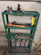 RACK WITH ASSORTED BALL PIN HAMMERS