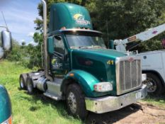 2015 PETERBILT 576 T/A DAY CAB TRACTOR, PACCAR MX13-13 DIESEL ENGINE, EATON FULLER FRO16210 TRANSMIS