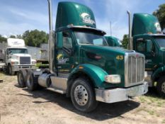 2015 PETERBILT 576 T/A DAY CAB TRACTOR, PACCAR MX13-13 DIESEL ENGINE, EATON FULLER FRO16210C TRANSMI