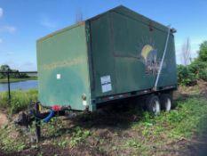 2008 CUSTOM/HOMEMADE BOX TRAILER, 25' CUSTOM BOX TRAILER, 40-YARD CAPACITY, REAR DOOR, VIN ARKAVTL08