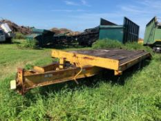 1994 CUSTOM/HOMEMADE 22' HM T/A UTILITY TRAILER, PINTLE HITCH, DOVETAIL WITH RAMPS, WOOD DECK, VIN G