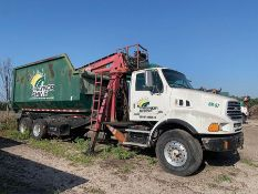 2005 STERLING LT9500 6X4 T/A ROLL-OFF GRAPPLE TRUCK, DAY CAB, DOUBLE FRAME, DETROIT DIESEL L6 14.0 L