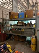 (2X) SECTIONS OF TEARDROP STYLE PALLET RACKING: (2) 10' X 34'' UPRIGHTS, (2) 12' X 42'' UPRIGHTS, (1