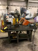 BENCH MOUNTED DRILL PRESS, 30'' X 72'' TABLE