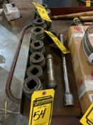 (8) 1'' DRIVE IMPACT SOCKETS, 1'' AND 3/4'' EXTENSIONS