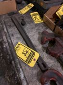 RIDGID 24'' PIPE WRENCH & BOX OF RIDGID STRAPS