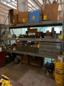 CONTENTS OF (1) SECTION OF PALLET RACK: PARTS BINS W/ CONTENT, AIR FILTERS, MISC. PARTS (EXCLUDES BO