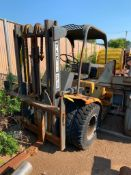 HYSTER 10,000 LB. CAPACITY LPG FORKLIFT, MODEL H100C, S/N C6D2789H, DUAL FRONT TIRES, 2-STAGE MAST (