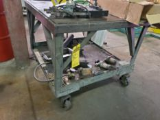 HD STEEL CART WITH STEEL CASTERS AND CONTENTS