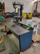 """CENTRAL MACHINERY 13"""" VERTICAL BENCHTOP DRILL PRESS WITH STEEL TABLE, 12"""" DIA. TILT TABLE, 3-1/8"""""""