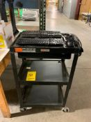 ULINE PC CART W/ (2) KEYBOARDS, (2) COMPUTER MOUSES