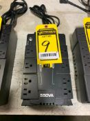 CYBER POWER 550 VA BATTERY BACK-UP SURGE PROTECTOR