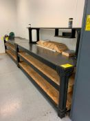(2) WORKBENCHES, 32'' X 96'', W/ PARTS CATALOGS, MASTER CATALOGS