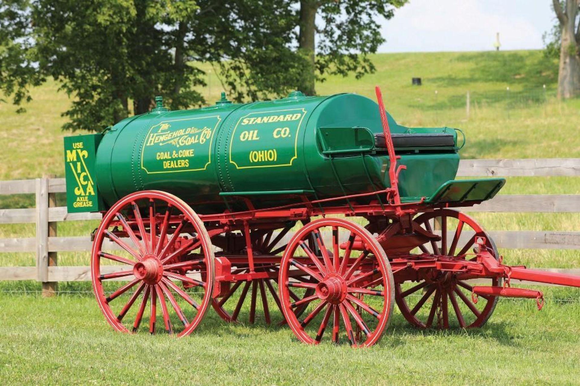 Restored Vintage Standard Oil Fuel Wagon - Image 2 of 3