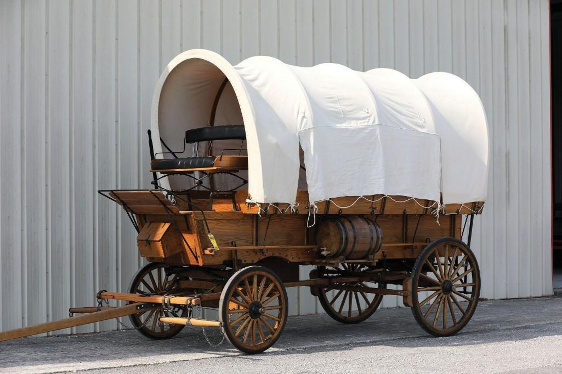 Replica Covered Wagon, Cook Box Inside, New - Never Hitched - Image 2 of 2