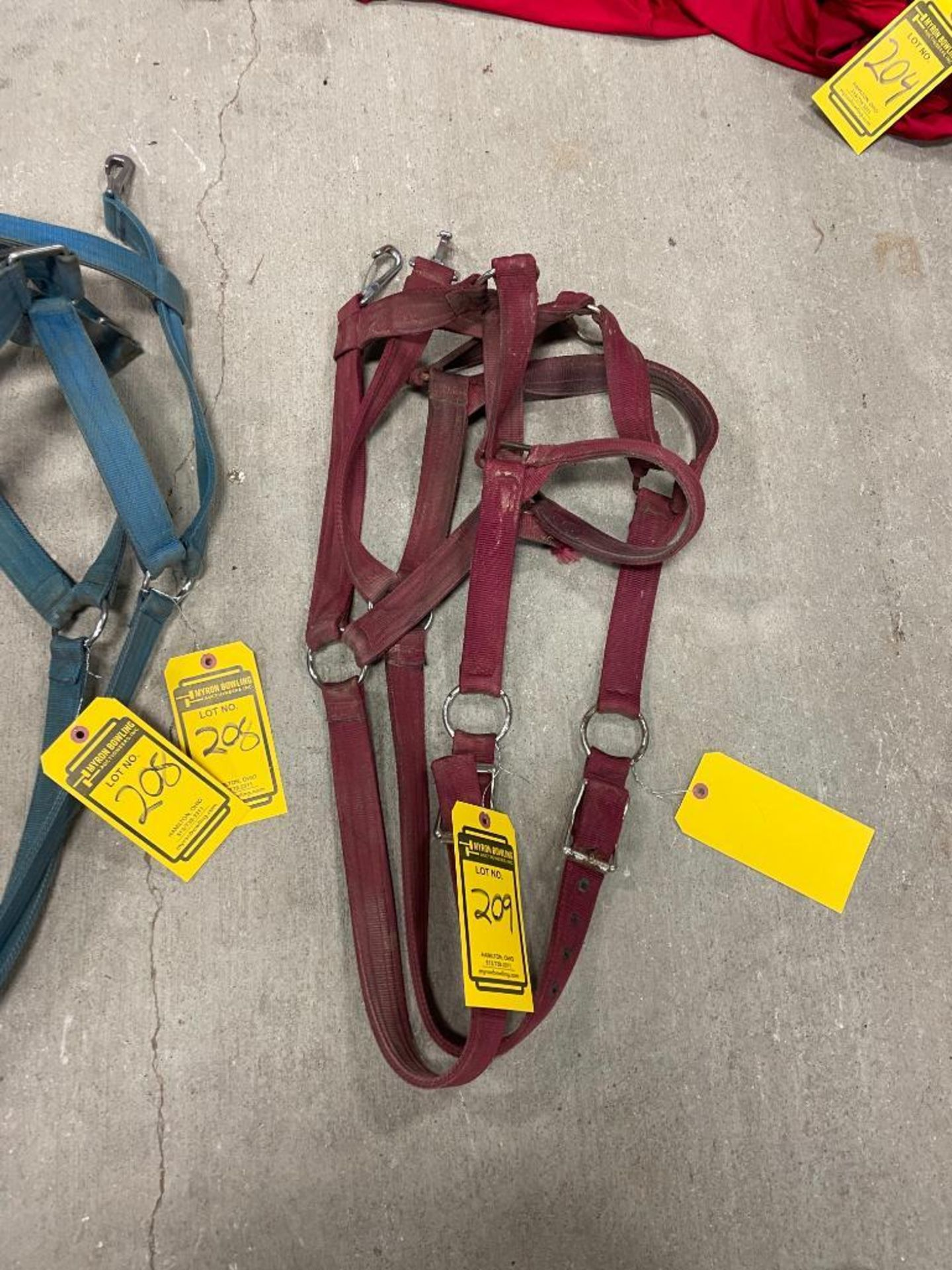 (2) Purple Nylon Draft Horse Halters