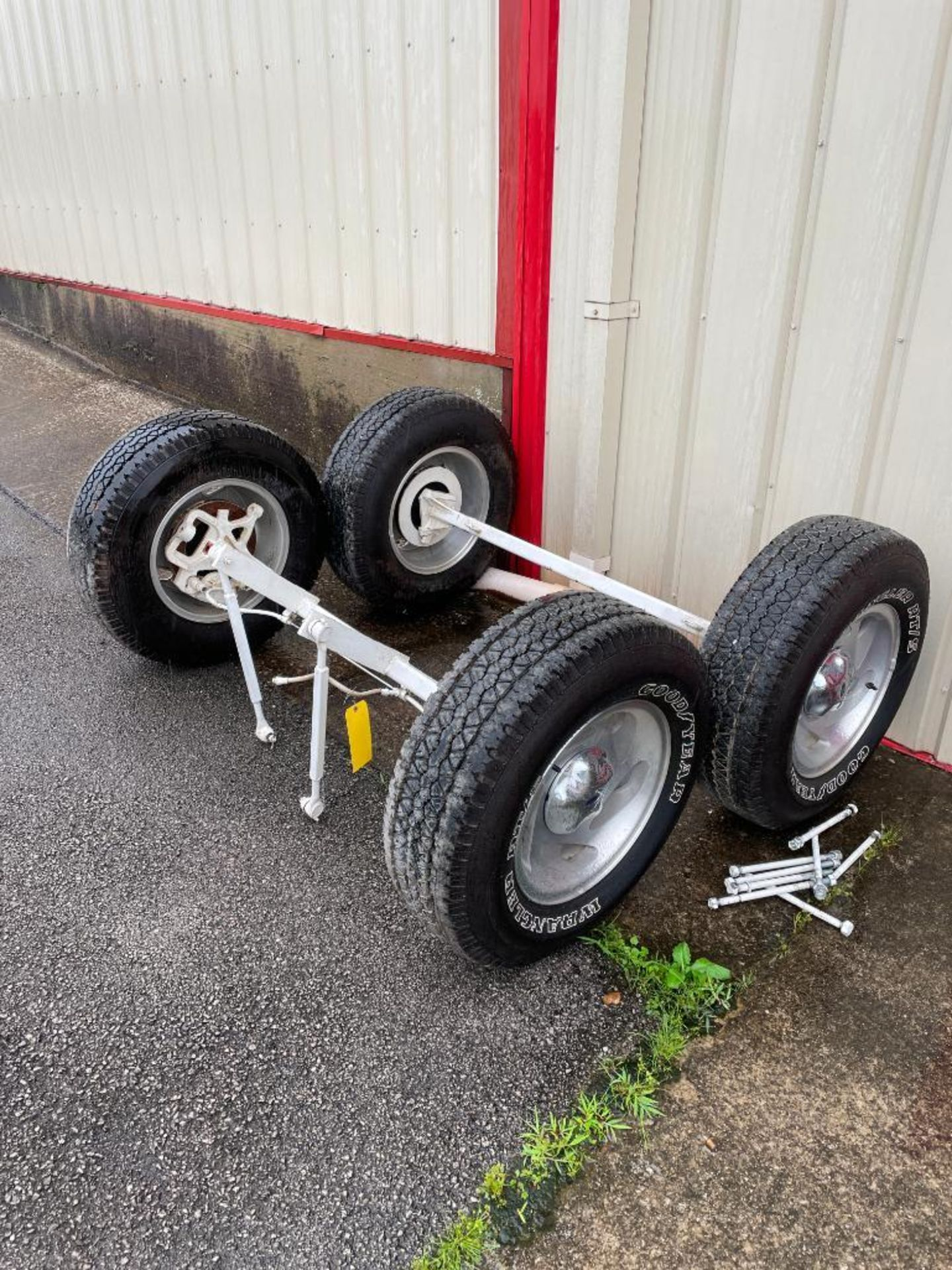 Replacement Trail Axles for Lot 31 Wagon, New Good Year Tires