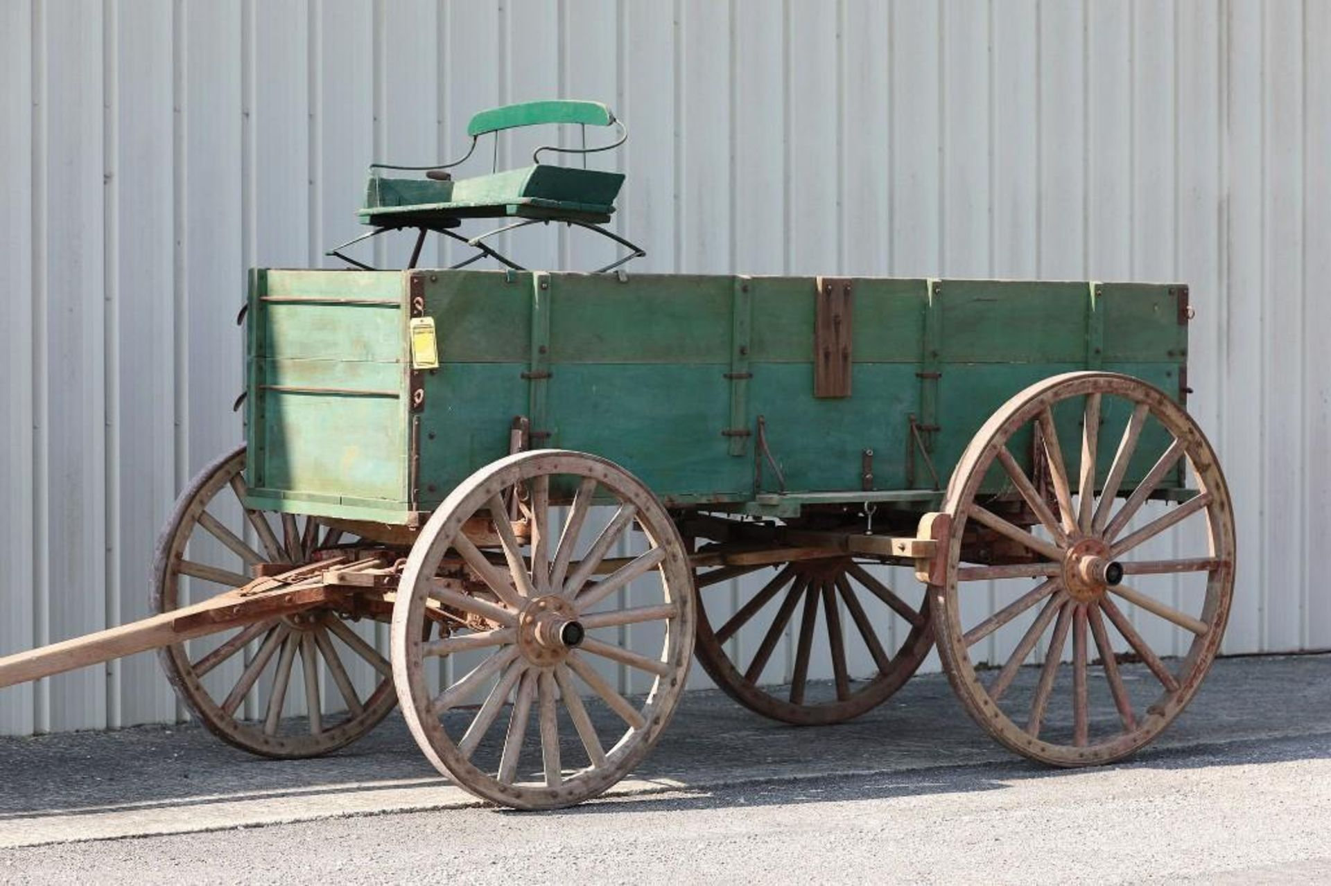 2-Board Box Bed Farm Wagon, Heavy Chassis, Mine Use Marked LW25 - Image 2 of 2