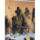 Amish Made Team Set of (2) Brahma Webb Breast Pull Type Draft Harnesses, 64'' - 102'' girth, 28''