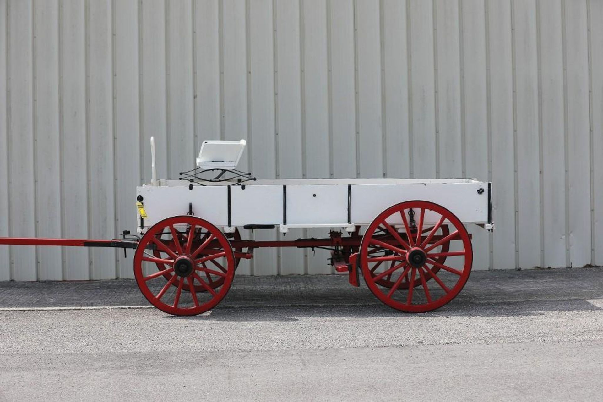 OWENSBORO Box Bed Farm Wagon, Hand Brake, Seat will sell separate