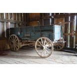 High Side Box Bed Farm Wagon, Logos Showing