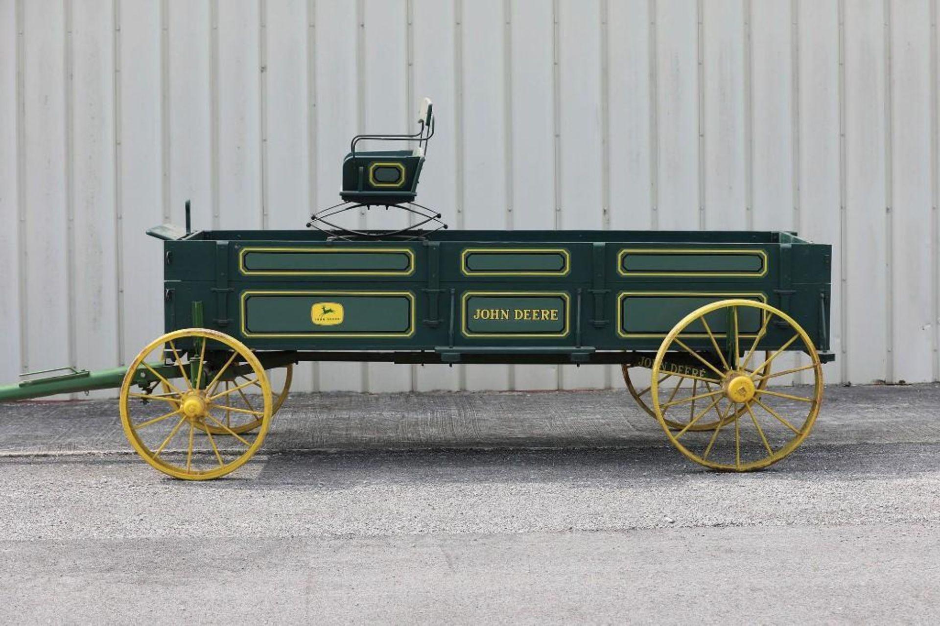 JOHN DEERE Box Bed Farm Wagon, Steel Wheels