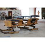 3-Seat Oak Bobsled