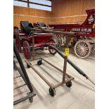 58'' x 94'' Steel Harness Rack on Rubber Casters