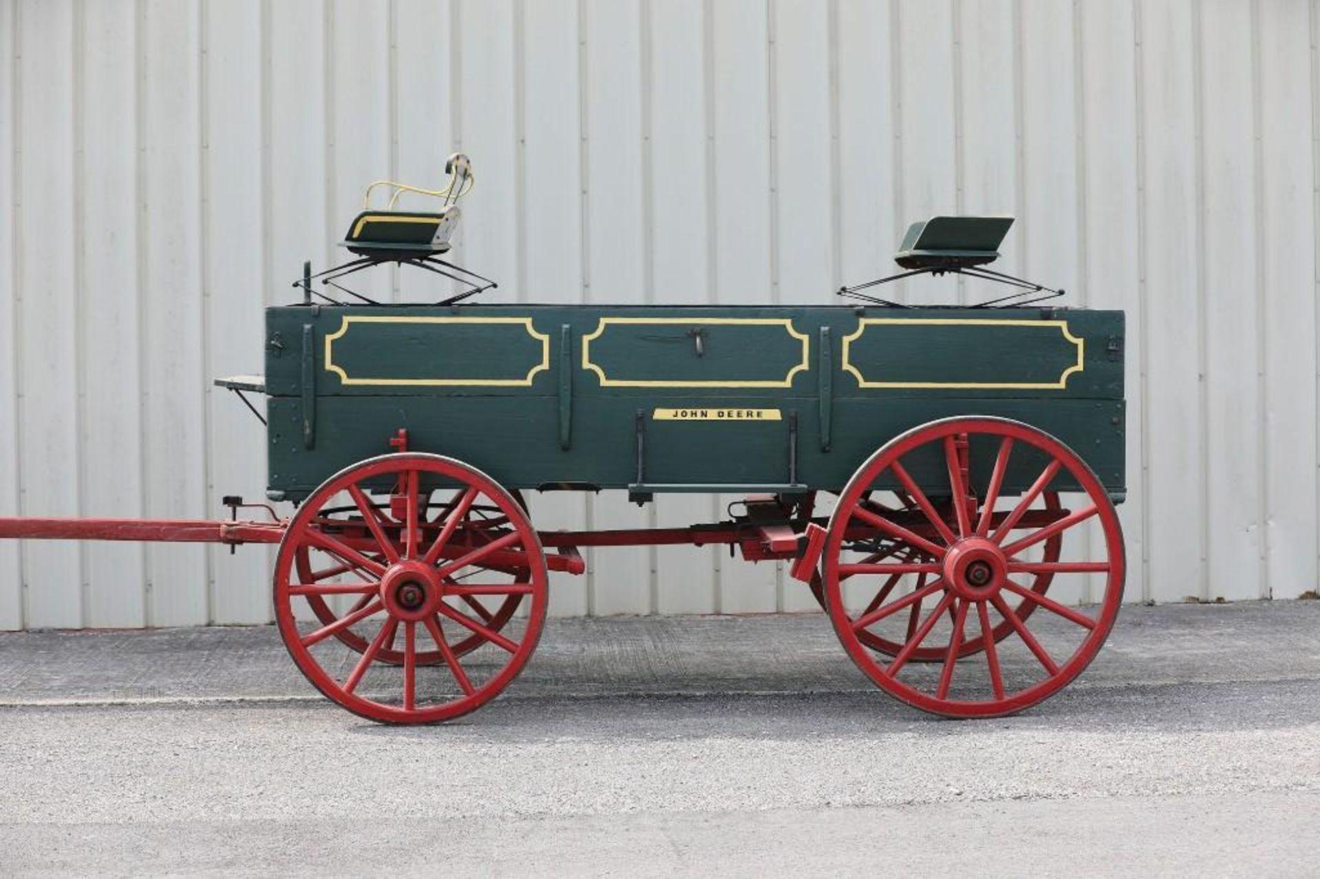 JOHN DEERE Box Bed Farm Wagon, (2) Seats will sell separate