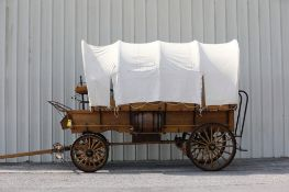 Replica Covered Wagon, Cook Box Inside, New - Never Hitched