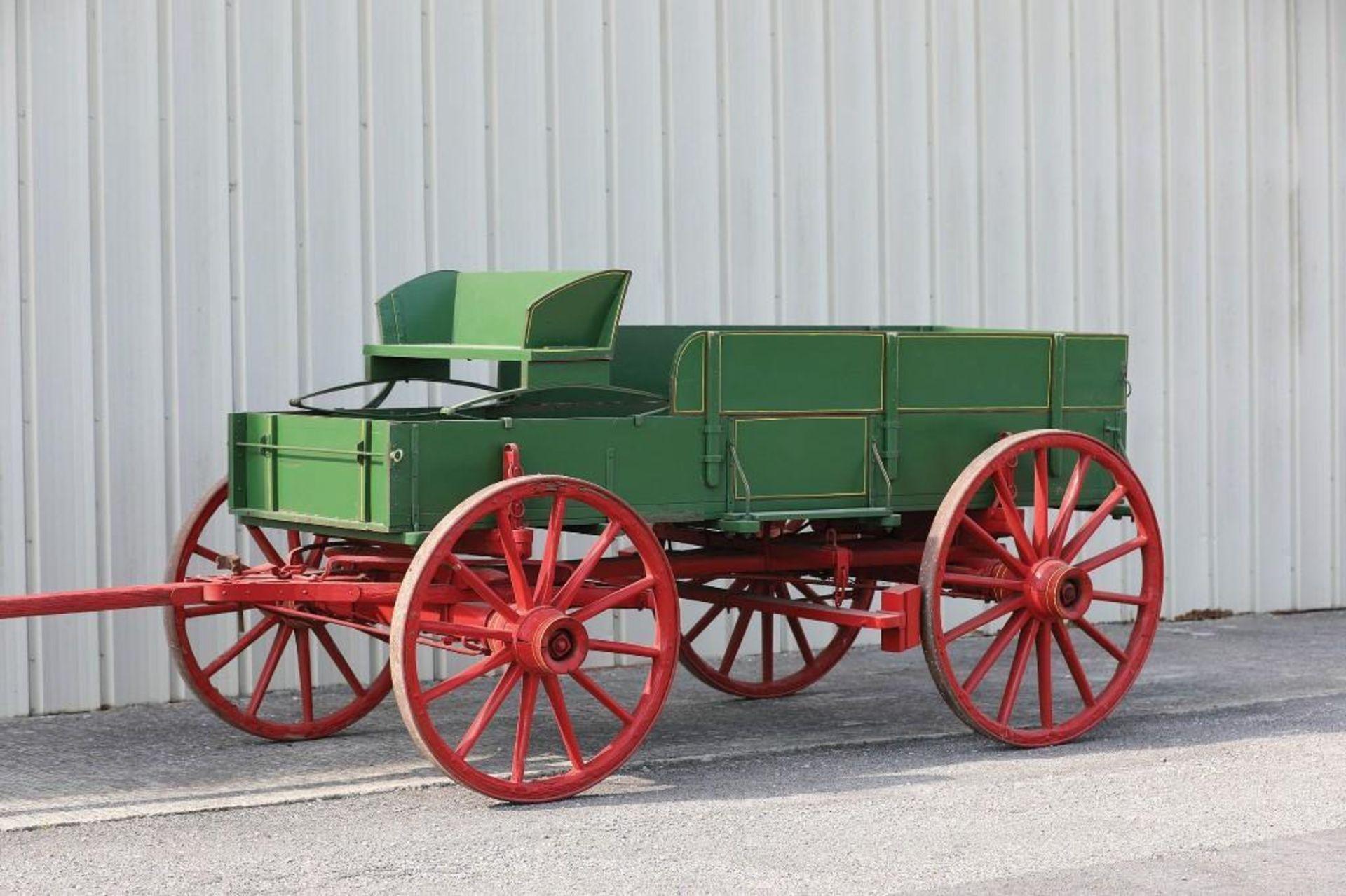 Restored Box Bed Farm Wagon, Original Running Gear & Hardware, Marked 75W - Image 2 of 2