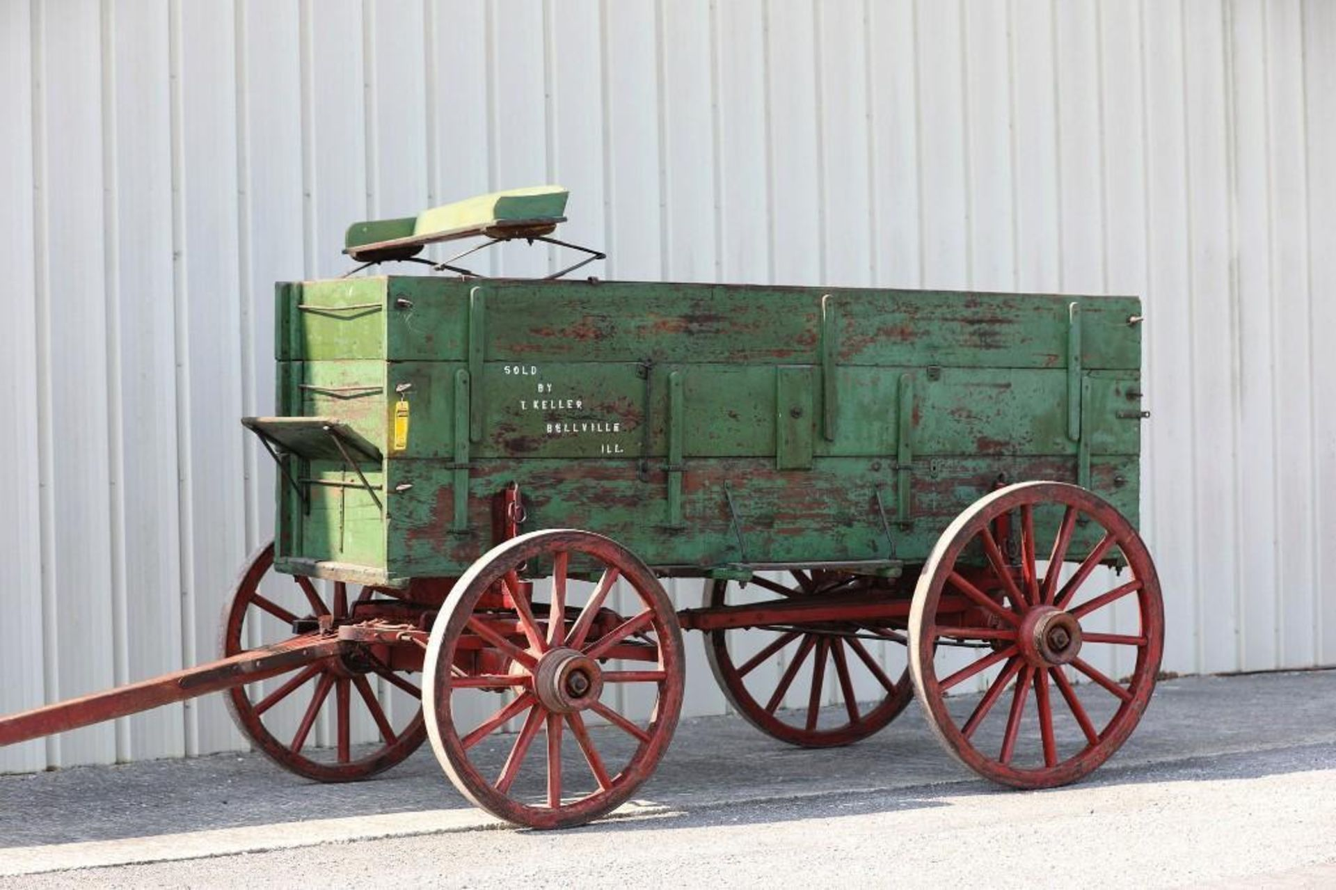 T. KELLER 3-Board Box Wagon, Manufactured in Belleville, Illinois. Seat will sell separate. - Image 2 of 2