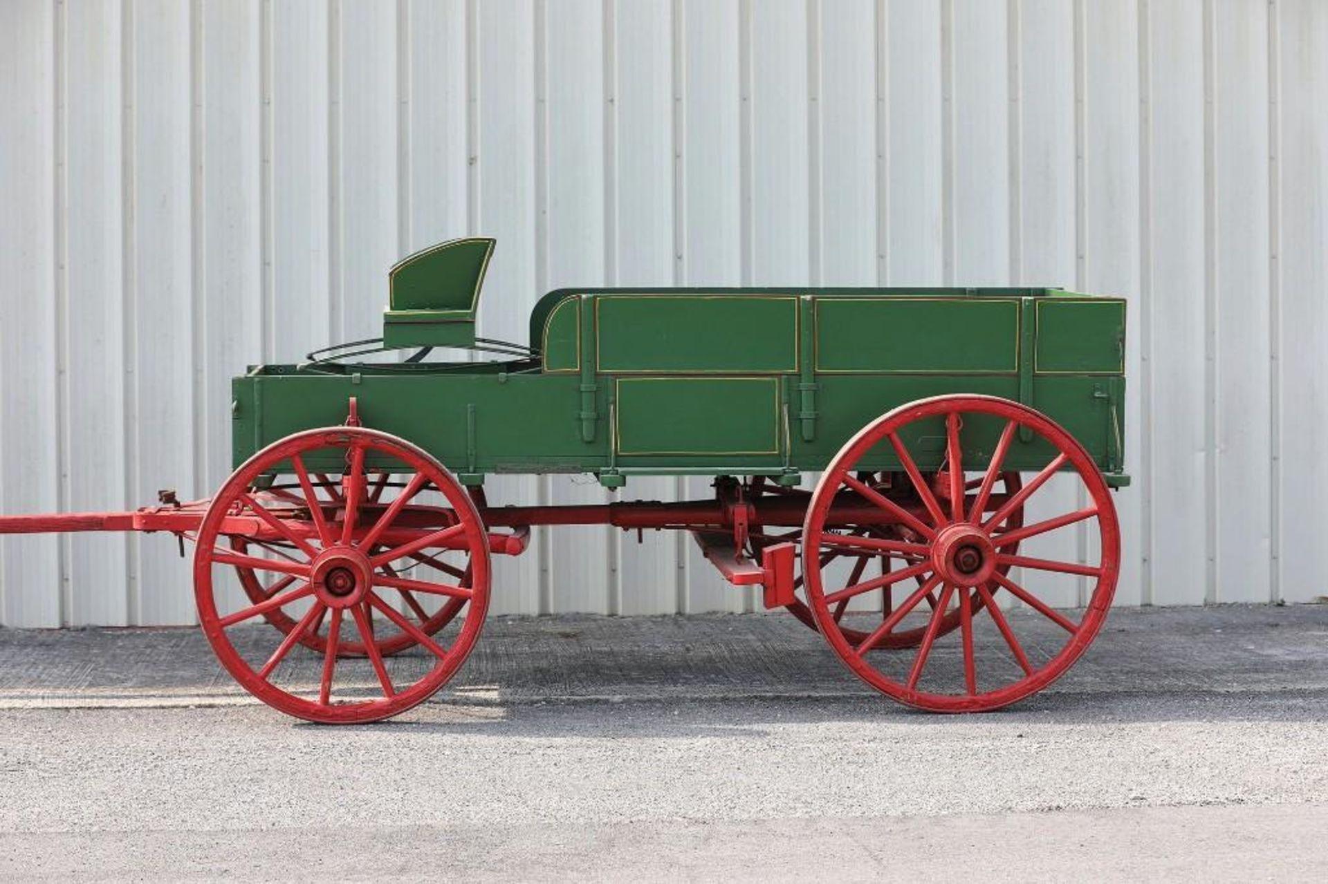 Restored Box Bed Farm Wagon, Original Running Gear & Hardware, Marked 75W