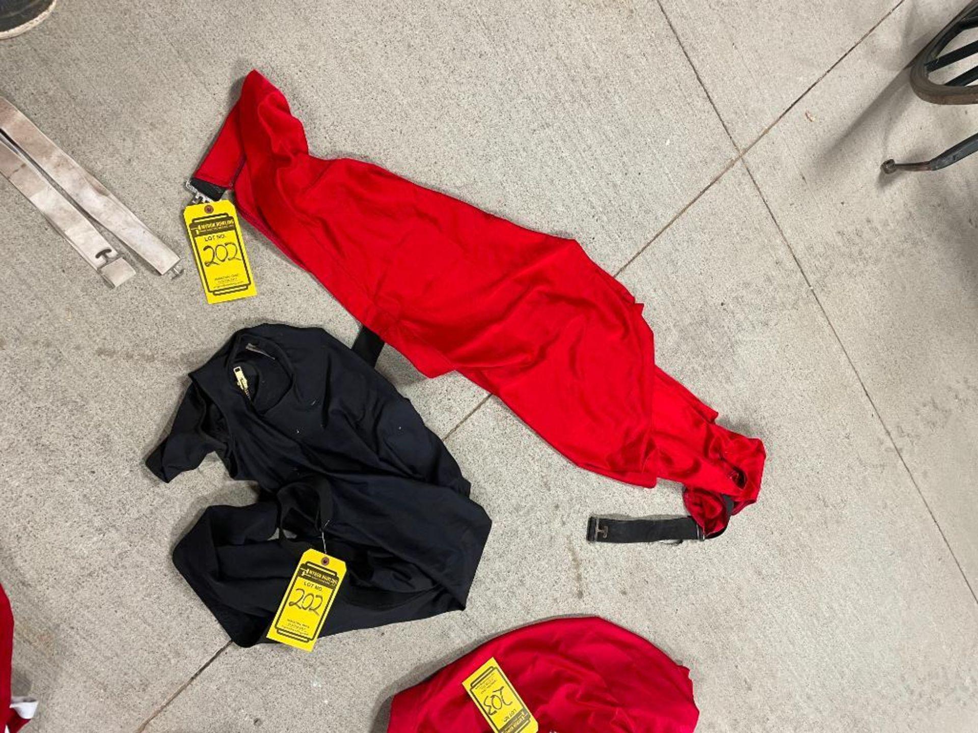 (2) Neck Sleazys: (1) Red, (1) Black