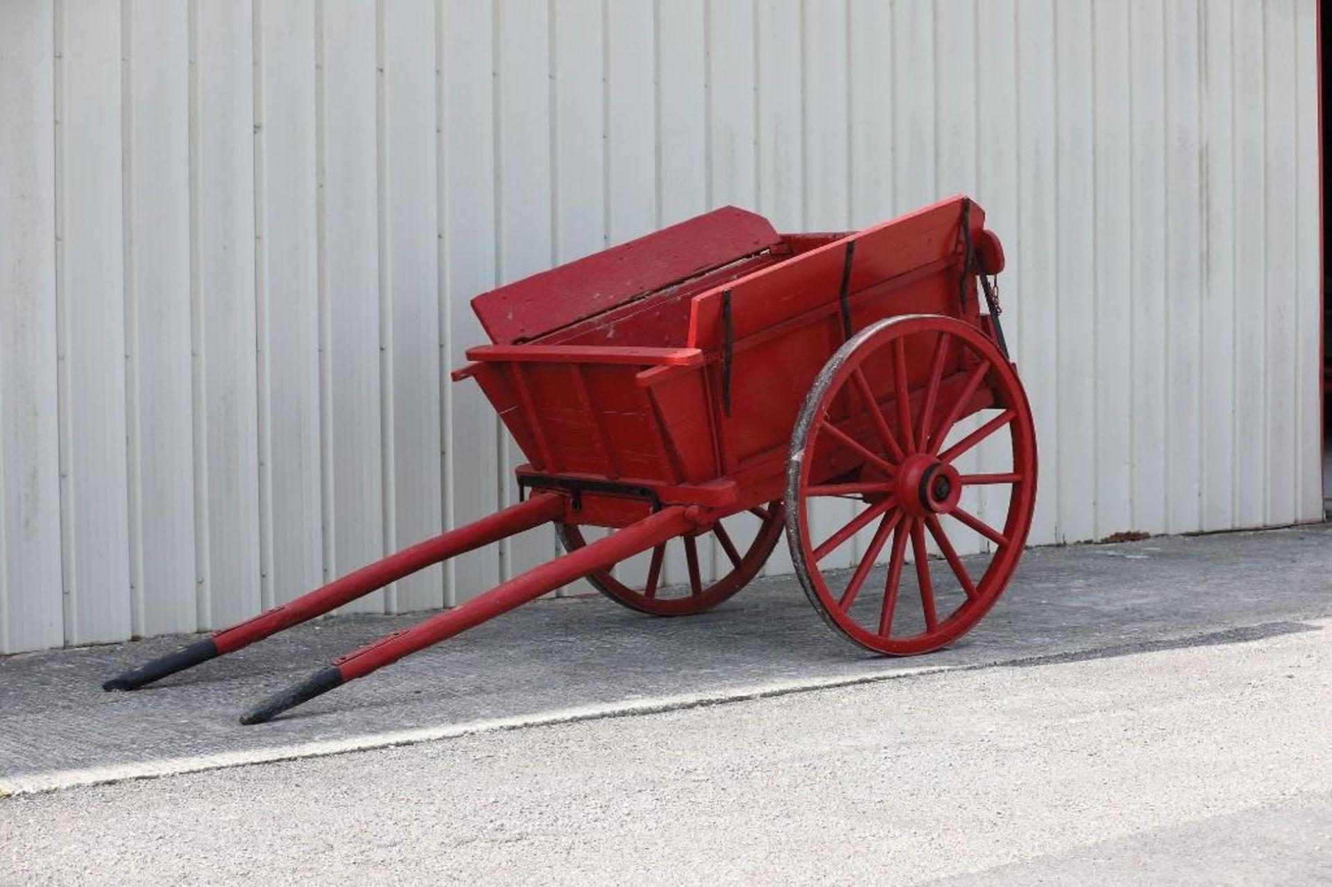 Original 2-Wheel Farm Dump Cart - Image 2 of 2