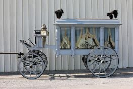 MERTS & RIDDLE HEARSE MFG. Hearse, Setup for 1, 2, or 4 Horse. Located in Ravenna, Ohio. Ornate