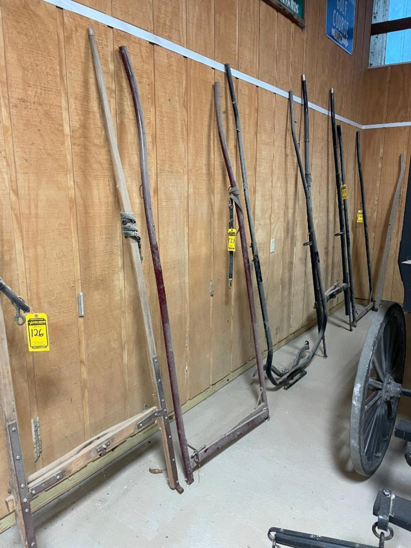 8' Steel Buggy Shaft, 36'' Outside Hitch Pins - Image 2 of 2