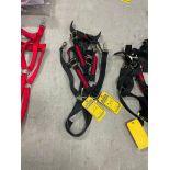 (2) Red & Black Nylon Draft Horse Halters