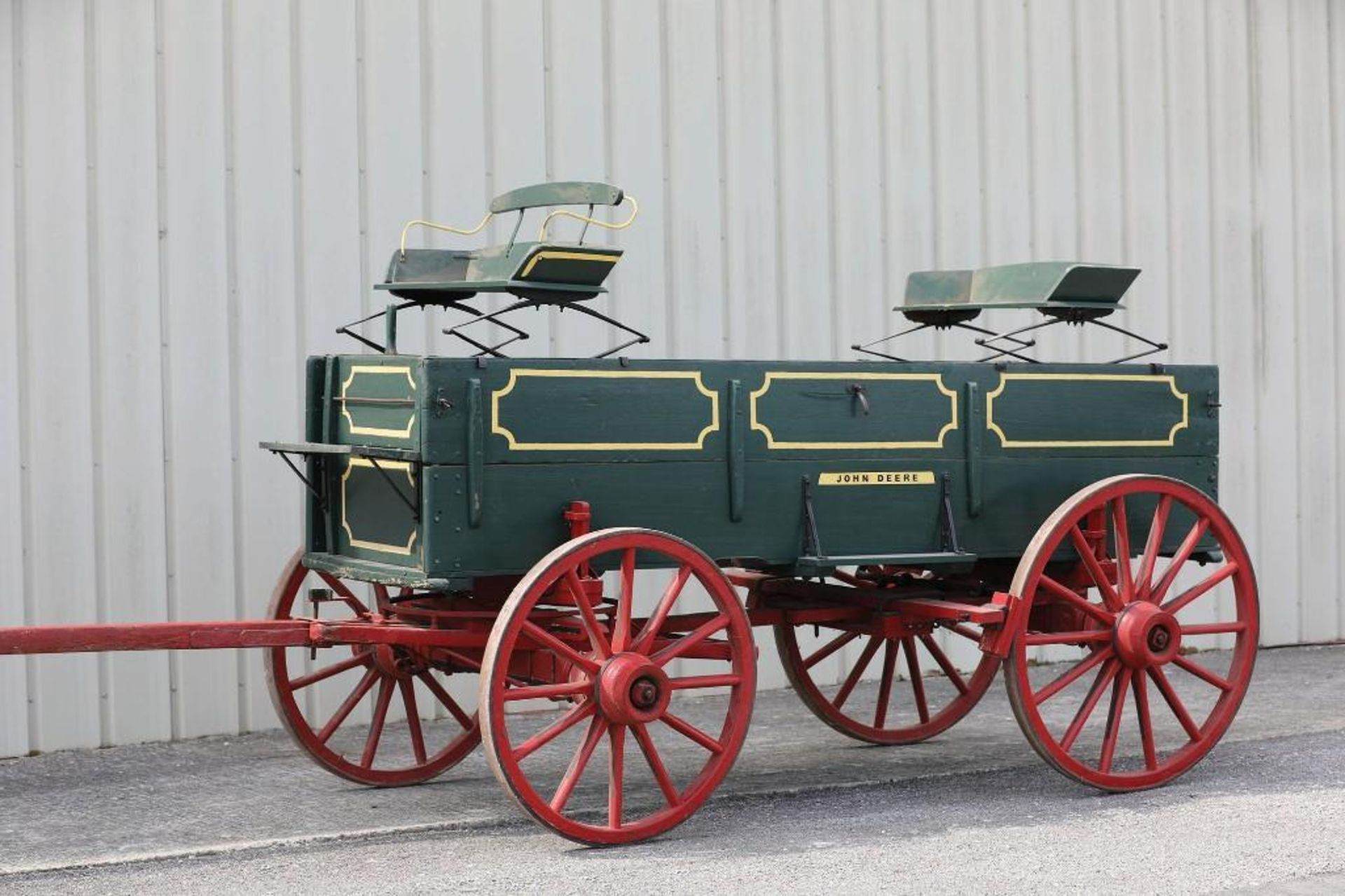 JOHN DEERE Box Bed Farm Wagon, (2) Seats will sell separate - Image 2 of 2