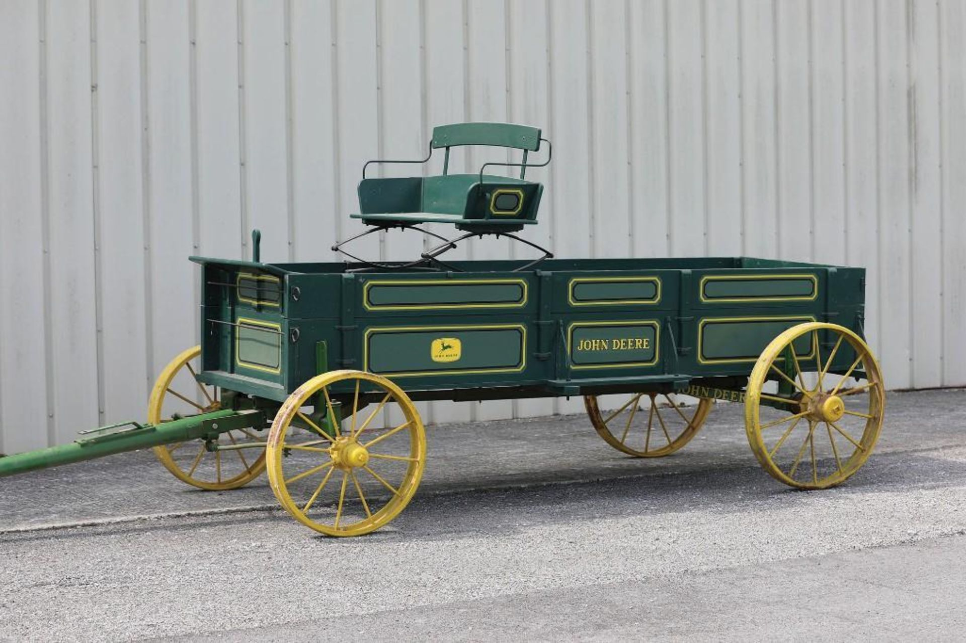 JOHN DEERE Box Bed Farm Wagon, Steel Wheels - Image 2 of 2