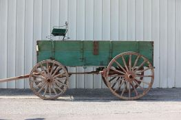 2-Board Box Bed Farm Wagon, Heavy Chassis, Mine Use Marked LW25