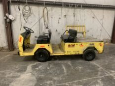 CUSHMAN 4-PERSON ELECTRICAL PERSONNEL CARRIER, MODEL 618569, S/N 3029625 1,008 HOURS, W/ON-BOARD