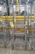 (2) 3-STEP STEEL ROLLING LADDERS